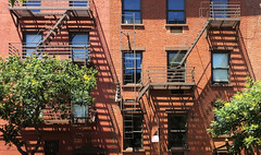 Escapism XV: Head For The Trees! (nrg_crisis) Tags: fireescape apartments building shadows trees windows nyc greenwichvillage escapism
