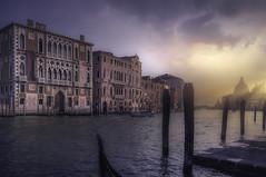 Venetian paths 94 All'Accademia (Maurizio Fecchio) Tags: morning sunrise city cityscape boats lights travel church venice venezia atmosphere bridge canal sky clouds italia italy street
