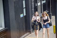 DSC_4110 Shoreditch London Great Eastern Street Ladies Denim Blue Jean Shorts (photographer695) Tags: shoreditch london great eastern street ladies denim blue jean shorts