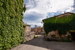 Per le vie di Querceto (Mancini photography) Tags: street church overview shadows tuscany medieval village lights contrast canon