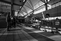 DSC00263_1 (Damir Govorcin Photography) Tags: shadows natural light mood sydney olympic park railway station blackwhite people monochrome wide angle zeiss 1635mm sony a9 architecture
