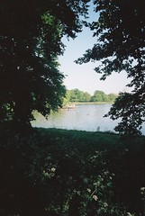 Hampstead Heath (cranjam) Tags: ricoh gr1 gr1v film kodak portra160 uk londra london hampsteadheath hampstead parco park pond highgatemensbathingpond england