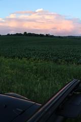 No Doors No Problem (CC 8039) Tags: clouds sunset rural farm field weather lena illinois