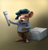 Newspaper seller (Jeremy Norton) Tags: illustration illustrator character characterdesign mouse childrensillustration childrensbooks newspaper seller