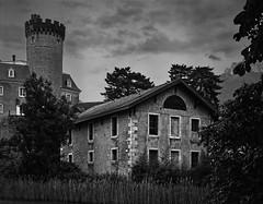 Chateau Duingt (Patrick.MALO) Tags: blackandwhite noiretbkanc chamonix045f1 4x5 rodenstock fomapan100 rodinal duingt castel