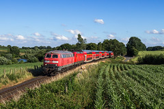 DB 218 453 + 112 140 - Gleschendorf (Pau Sommerfeld Acebrón) Tags:
