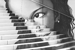 Visage b&wmonochrome (Clém VDB (TIOGRIS)) Tags: bw nb monochrome composition art graffiti streetart street bretagne