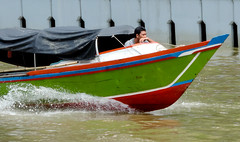 Boat sailor (A. Yousuf Kurniawan) Tags: boat boater riverlife river banjarmasin kalimantan borneo water peoplepower kelotok streetphotography decisivemoment colourstreetphotography colourful