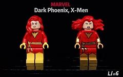 Dark Phoenix, X-Men (L1n6zz) Tags: leyilebrick lab9 ugminifigures xmen phoenix marvel lego