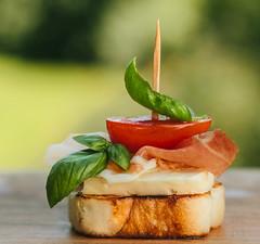 MacroMondays#Refreshments (Inka56) Tags: refreshments macromondays fingerfood snacks cherrytomato basil mozzarella tost prosciutto 7dwf