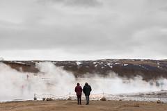 Geothermal Area 3 (pni) Tags: human people pair couple being person man woman steam strokkur geyser geysir goshver is18 iceland ísland pekkanikrus skrubu pni