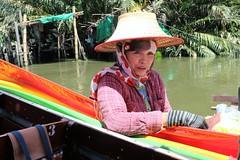 """Bangkok: Khlong vendor (Ali Bentley) Tags: bangkok thailand southeastasia klong khlong """"longtail boat"""" merchant"""