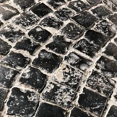 Cobblestones of Mainz (frankdorgathen) Tags: smartphone iphone iphone8plus blackandwhite monochrome schwarzweiss schwarzweis stone stein muster pattern boden floor rheinlandpfalz mainz kopfsteinpflaster cobbles cobblestone
