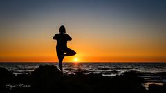 Zen (eddy_737) Tags: canon zen yoga sun sunset sky sea rocks summer orange gold goldenhour golden nature light quiet peaceful peace evening balance stable pose position water colors colorful