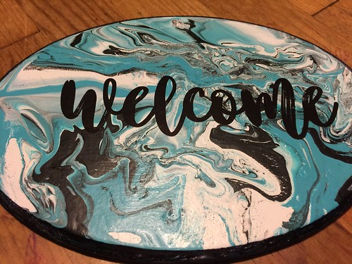 finished Welcome Sign