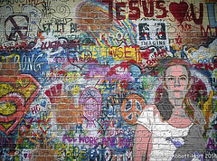 All You Need is Love- (Laurie2123) Tags: 52weeksof2018 999 fujixt2 fujinon56mm laurieabbotthartphotography laurieturnerphotography laurietakespics laurie2123 composite grafitti me naturallight portrait selfportrait selfie