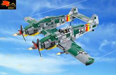 Bf-109Z Heavy Fighter (Eínon) Tags: bf109z messerschmitt me109z 109 z heavy fighter interceptor bomber germany ww2 lego
