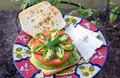 Veggie Sandwich (Adrian Tranquilino) Tags: cook food eat veggies 365project2018 sandwich drinks cofee comfort healty