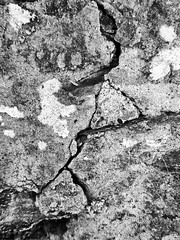 Another Crack in the Wall (alison's daily photo) Tags: 7dwf closeup flickrfriday anothercrackinthewall monochrome blackandwhite wall crack texture 100xthe2018edition 100x2018 image55100