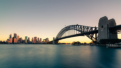 Sydney Harbour Bridge (RoamingSkies) Tags: sydney harbour bridge sunset australia canon 80d nisi gradient water city skyline