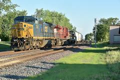 Csx 7800 through St Anne IL. (Machme92) Tags: csx csxt railroad railfanning railroads railfans rails rail row railroading railfan trains nikon cp tracks sky summer america