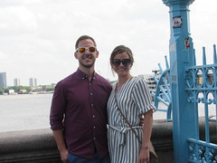 Monday, 16th, On Tower Bridge IMG_3250 (tomylees) Tags: michelle jeff towerbridge towerhill london july 2018 16th monday