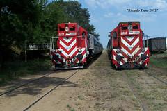 6613-6606_Ameghino-1 (Ricardo_Tieso) Tags: general motors gr12 6613 6606 ameghino tren ferrocarril ferroexpreso pampeano