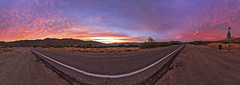 Sunset over Highway 78 just below the Banner Grade in Anza-Borrego Desert State Park (slworking2) Tags: julian california unitedstates us panorama sunset desert sun sky clouds colorful anzaborrego anzaborregodesertstatepark banner highway highway78