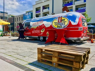 Street food trailer in Kufstein, Tyrol, Austria