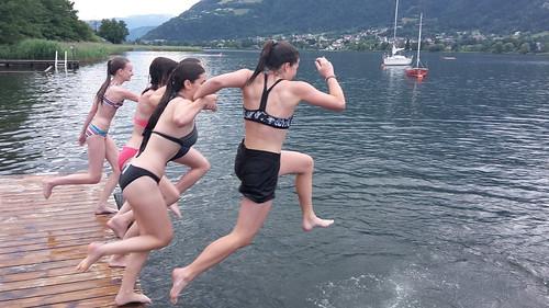 Erste Abkühlung im See