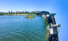 Time to go home (MarinSD) Tags: creative waterfall pano portland willamette tugboat