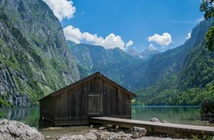 Obersee (alexander_skaletz) Tags: obersee alps mountain mountains house wood lake clouds sky blue withe green grass tree trees landscape landscapephotography stones bayern bavaria german germany sun sunny warm summer day summerday water