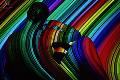 rainbow road (jussi.viljamaa) Tags: rainbow colour body nude woman art colourful portrait posing