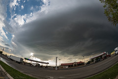 Below a Texas Supercell (mesocyclone70) Tags: supercell texas stormchase thunderstorm fisheye ufo wallcloud sky weather