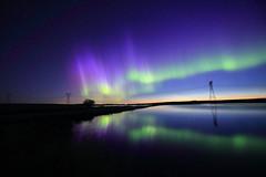 Straight out of Camera 2:30am June 18 2018 (John Andersen (JPAndersen images)) Tags: aurora albertafarm night crossfield longexposure stars noctilucentclouds pond reflections canon6d