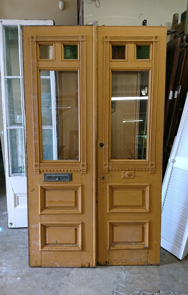 Pair Exterior Pine Victorian Doors (05746) (The Door Store) Tags: vintage - The World's Best Photos Of Antique And Toronto - Flickr Hive Mind