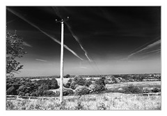 Vanishing lines (dunne_s) Tags: approved infrared mono landscape sky skytrails naas