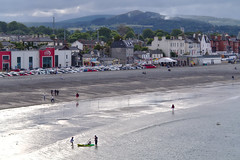 Bray on not so sunny day (Jacek Rudowski) Tags: bray wicklow ireland county town hills sky clouds cloudy sea seafront seaside beach coast water people cars reflections buildings architecture spring springtime weekend travel travelphoto travelphotography tourism kayak parking