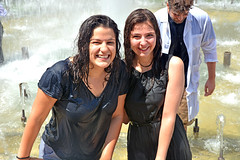 Newly Become Pharmacist Ladies Smiling Here (misi212) Tags: ladies posing fountain