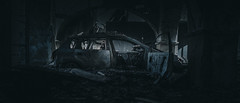 . (the pointless d.ude) Tags: dark darkness ambiant atmosphere mood cinema anamorphic lisbon lisbonne lisboa decay car sony a7s