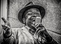 Singing the Blues (Andy J Newman) Tags: monochrome music white air airshow beach black blackandwhite d500 flight musician nikon plane show silverefex sing singer tropicana weston westonsupermare england unitedkingdom gb