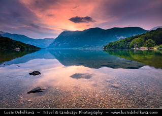 Slovenia - Julian Alps - Triglavski NP & Bohinj Lake during Sunset