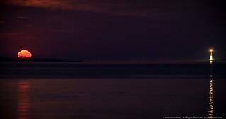 Moonrise at Barnegat Light