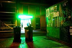 Barcelona (Niko´Niko) Tags: barcelona night street la las spain lights rambla ramblas drugstore pharmacy colors shadows green light ghetto hood photography urban