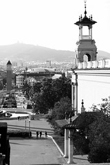 Barcelona Walk (Anna Sikorskiy) Tags: bw blackandwhite city cityscape skyline architecture horizon beauty streetphotography street people urban life atmosphere europe spain barcelona canon annasikorskiy abstract concept