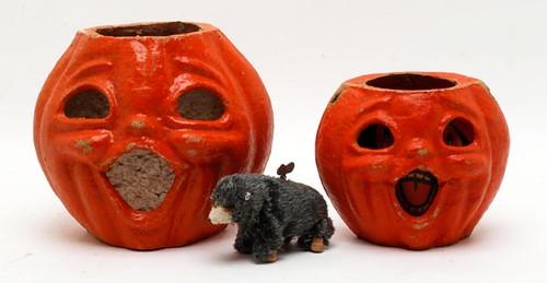 1930s Halloween Paper Mache Pumpkins ($56.00 each)