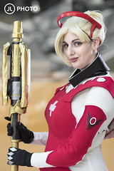 Olympic Mercy (MecCanon [Insta: JLPhotoOfficial]) Tags: cosplay saltcitycomiccon syracuse newyork cosplayer canon80d 85mmf18 mercy overwatch