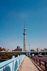 Tokyo Skytree (NatalieTracy) Tags: tokyo japan tokyoskytree skytree city observationdeck skyline skyscrapers road bridge observationtower building