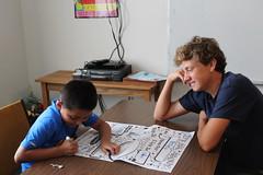 BOSH Volunteer Evan Byrne and buddy