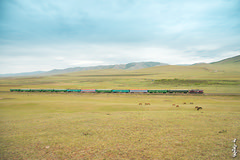 Train No:272. Sukhbaatar - Ulaanbaatar. (N.Batkhurel) Tags: railway railfan season summer clouds passengertrain trains trainspotting locomotive mongolia monrailpic m62um ngc nikon nikondf